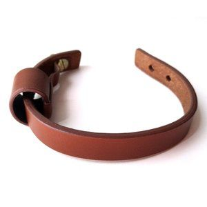 3/$25 Brown Cognac Leather Bracelet